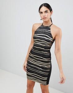 Платье мини цвета металлик AX Paris - Мульти
