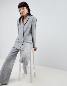Широкие брюки в клетку ASOS DESIGN tailored - Мульти