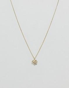 Ожерелье с подвеской в виде цветка лотоса Orelia - Золотой