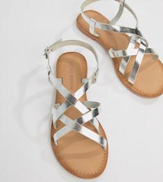 Кожаные сандалии Vero Moda - Серебряный