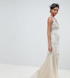 Платье макси с декоративной отделкой Amelia Rose - Розовый