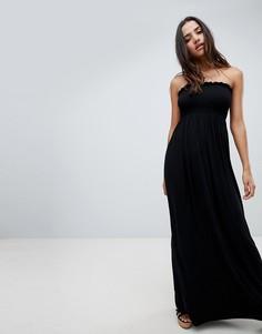 Платье-бандо макси Boohoo - Черный
