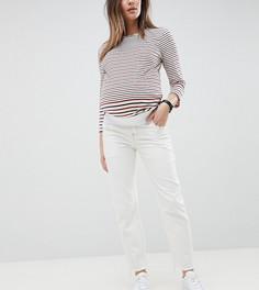 Белые джинсы прямого кроя с посадкой под животом и контрастными строчками ASOS DESIGN Maternity Florence - Белый