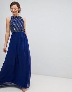 Платье макси Frock & Frill - Темно-синий