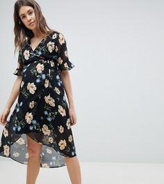 Платье миди с цветочным принтом New Look Maternity - Мульти