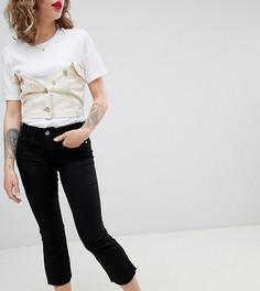 Укороченные джинсы клеш River Island Petite - Черный