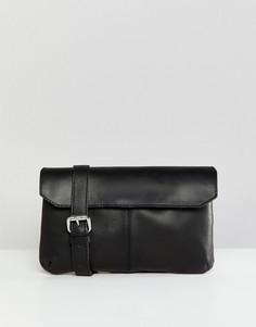 Кожаная сумка-кошелек на пояс ASOS DESIGN - Черный