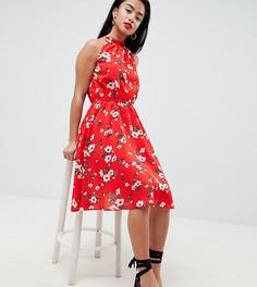 Платье с цветочным принтом Boohoo Petite - Красный