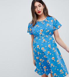 Платье для беременных с цветочным принтом New Look Maternity - Синий
