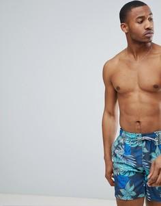 Шорты для плавания с принтом гибискуса Esprit - Серый