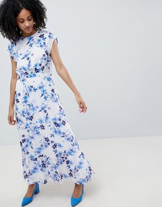 Платье макси с цветочным принтом и оборками Gestuz - Мульти
