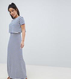 Двухслойное платье макси в полоску ASOS DESIGN Maternity - Мульти