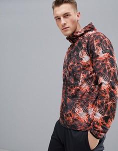 Куртка для бега с принтом FIRST - Оранжевый