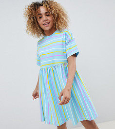 Свободное платье в полоску ASOS DESIGN Petite - Мульти