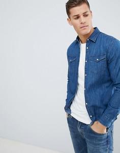 Джинсовая рубашка Jack & Jones - Синий