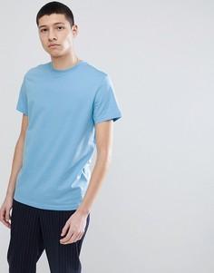 Синяя футболка Weekday Alan - Синий