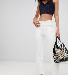 Кремовые укороченные джинсы клеш с необработанными краями ASOS DESIGN Tall - Белый