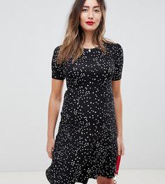 Чайное платье мини в звездочку ASOS DESIGN Maternity Ultimate - Мульти