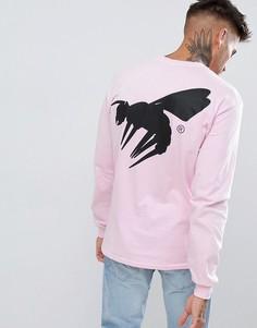 Лонгслив с принтом и логотипом Abuze LDN - Розовый