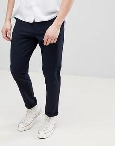 Темно-синие фактурные брюки FoR - Темно-синий