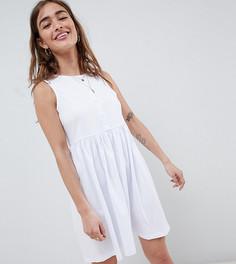 Свободное платье без рукавов ASOS DESIGN Petite - Белый