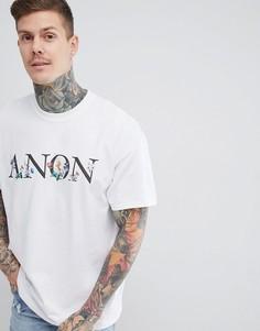 Белая футболка с цветочным принтом boohooMAN - Белый
