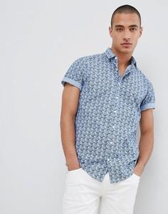 Синяя рубашка с короткими рукавами и принтом ананасов Lindbergh - Серый