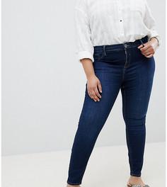 Темные джинсы скинни River Island Plus Molly - Синий