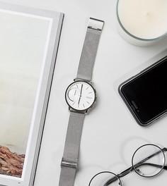 Смартчасы с серебристым сетчатым браслетом Skagen SKT1100 - Серебряный