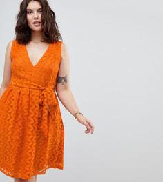 Кружевное платье миди Uttam Boutique Plus - Оранжевый