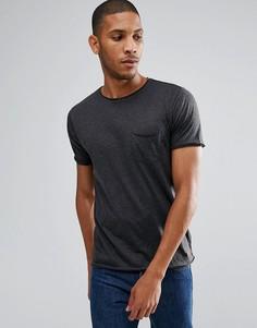 Базовая футболка с необработанными краями Brave Soul - Серый