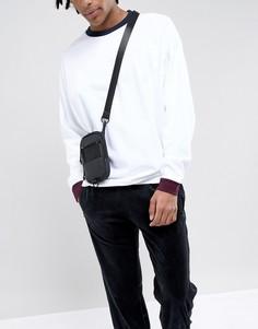 Черная сумка для авиапутешествий с прорезиненным дизайном ASOS DESIGN - Черный