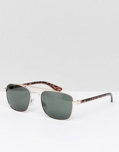 Солнцезащитные очки-авиаторы с контрастными дужками Jeepers Peepers - Золотой