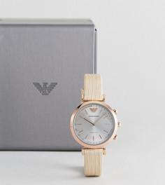 Гибридные смарт-часы с телесным кожаным ремешком Emporio Armani Connected ART3020 - Бежевый