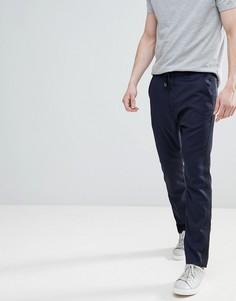 Темно-синие суженные книзу брюки со шнурком HUGO - Темно-синий