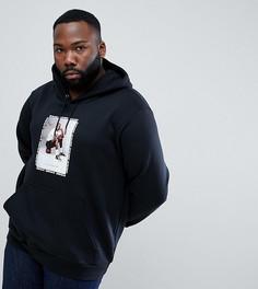 Худи черного цвета с принтом Nike Jordan PLUS 943928-010 - Черный