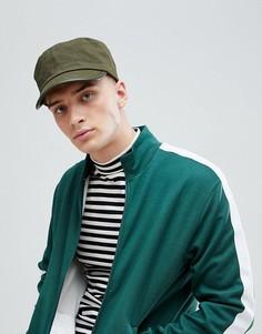 Хлопковая шапка цвета хаки Pretty Green - Зеленый