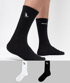 Набор из 2 пар носков с вышивкой Santa Cruz - Мульти