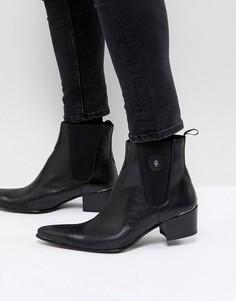 Черные кожаные сапоги Jeffery West Sylvian - Черный