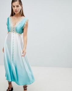Платье-комбинация на пуговицах с эффектом деграде ASOS DESIGN - Мульти