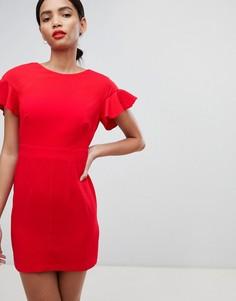 Платье мини с расклешенными рукавами ASOS DESIGN - Красный