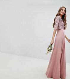 Платье макси с пайетками на лифе Maya Tall - Розовый