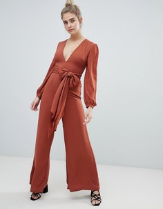 Комбинезон с поясом Glamorous - Красный