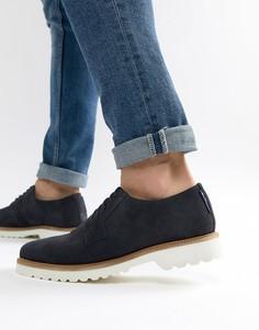 Темно-синие замшевые туфли на шнуровке Ben Sherman Highland - Синий