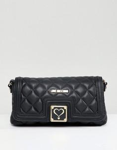Стеганая сумка на плечо Love Moschino - Черный