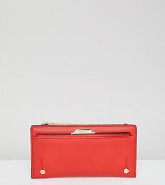 Красный узкий кошелек со съемной визитницей эксклюзивно от Dune Kerrie - Красный