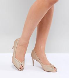 Туфли на каблуке для широкой стопы ASOS DESIGN Summer - Золотой