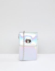 Переливающаяся сумка через плечо Yoki Fashion - Серебряный