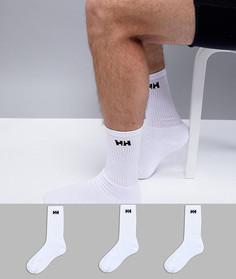 3 пары белых носков с логотипом Helly Hansen - Белый