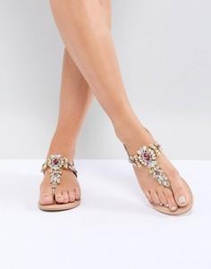 Кожаные сандалии ASOS DESIGN Fairlight - Золотой